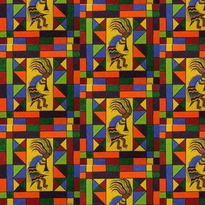 Kokopelli Quilt Square