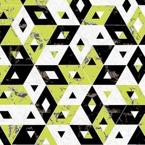 lime green black marble triangles