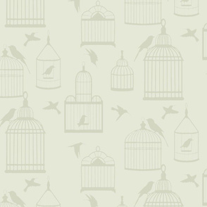 Bird cages on tan