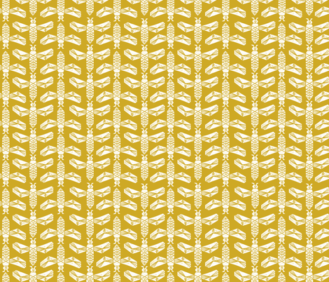 bees // golden yellow blockprinted linocut bee  fabric by andrea_lauren on Spoonflower - custom fabric
