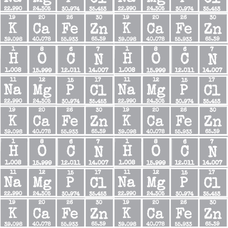 Periodic in Grey fabric by flower&bee on Spoonflower - custom fabric