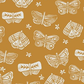 butterflies // spring mustard butterflies flowers spring florals block print original andrea lauren design