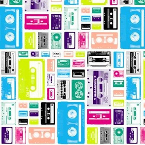 Mix Tapes (Midi Railroaded) || retro 70s 80s cassette music rock and roll collage vintage analog college dorm room hip hipster