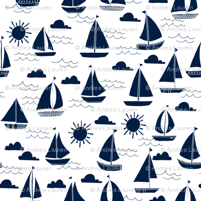 sailboats // navy nautical summer ocean water summer kids