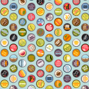 Pop Caps (Blue Raspberry Custom) || bottlecap bottle cap polka dots typography cola food drink soda pop