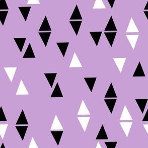 triangles pastel purple nursery baby leggings