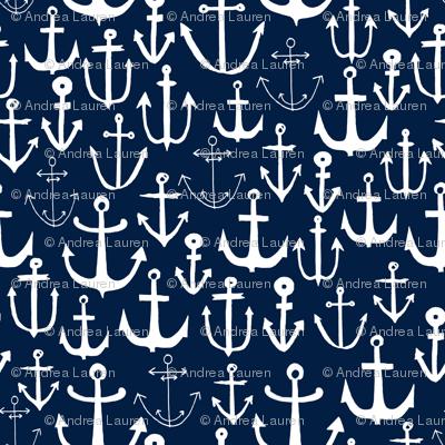 anchors  fabric // anchor fabric andrea lauren fabric navy sailing sailboat summer ocean