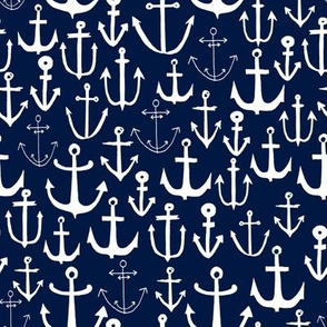 anchors  fabric // anchor fabric andrea lauren fabric navy sailing sailboat summer ocean