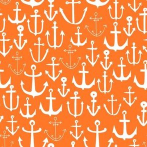 anchors // sailing nautical orange preppy ocean sea water summer bright