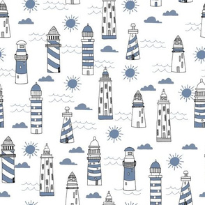 lighthouses // summer nautical blue ocean water sun