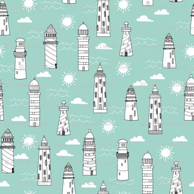 lighthouses // summer mint nautical sun water ocean kids