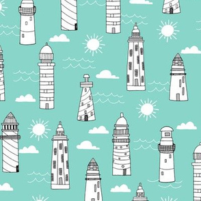 lighthouses // summer mint nautical sun water ocean kids