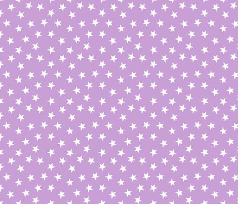 stars // lilac purple pastel lavender kids girls purple stars constellations  fabric by andrea_lauren on Spoonflower - custom fabric