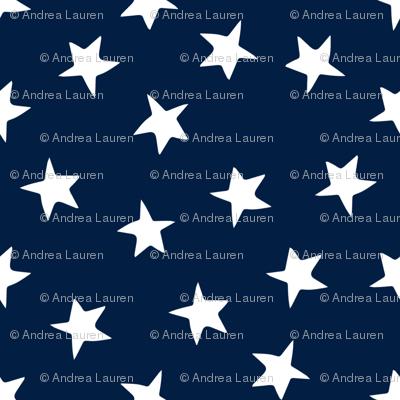 stars fabric // navy blue stars and white patriotic kids night sky nursery baby