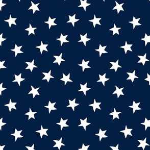 stars fabric // navy blue stars and white patriotic kids night sky nursery baby