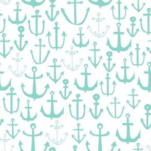 anchor // mint nautical summer ocean mint kids sun preppy