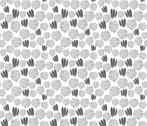 beets // grey vegetables monochrome simple minimal vegetables veggies vegan food fruit summer  fabric by andrea_lauren on Spoonflower - custom fabric