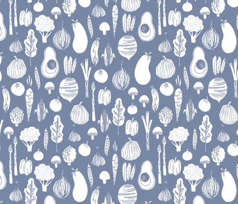 veggies // earthy plants vegan healthy eating avocados plants fabric by andrea_lauren on Spoonflower - custom fabric