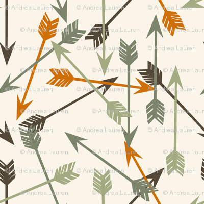 arrows // outdoors khaki green orange brown cream boys men print