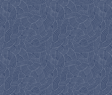 Dotty Waves fabric by tarynosaurus on Spoonflower - custom fabric