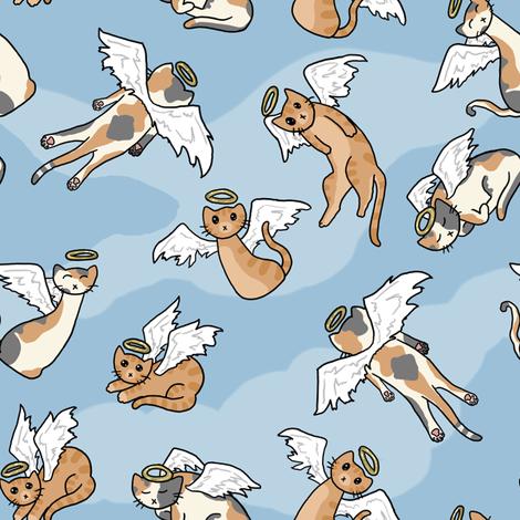 Angel Cats fabric by amber_morgan on Spoonflower - custom fabric