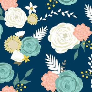 Summer blooms navy