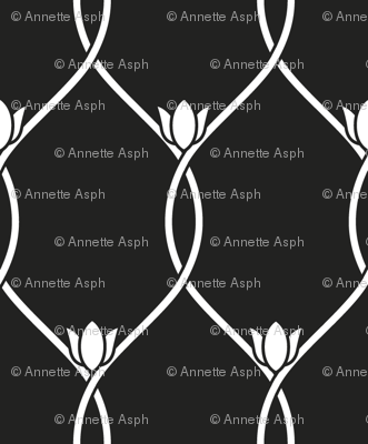 Tulip lines_white on black