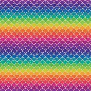 Rainbow Glitter Scales - Tiny