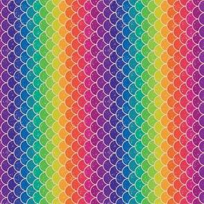 Rainbow Glitter Scales - Tiny Vert