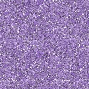 Doodles garden purple