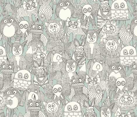 pencil pinatas fabric by scrummy on Spoonflower - custom fabric