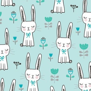 Dreamy Bunny Rabbit in Blue