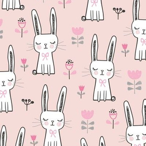 Dreamy Bunny Rabbit in Pink