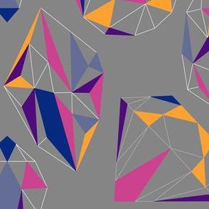 Crystals Color Blocks Pattern