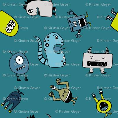 Little Monsters in Blue