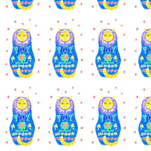Blue Kitty Matryoshka