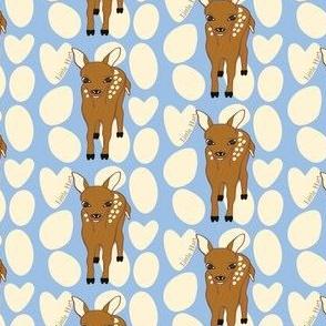 Little Hart Deer Offset Blue