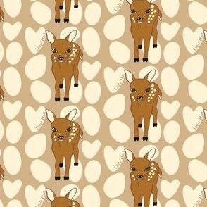 Little Hart Deer Offset Brown