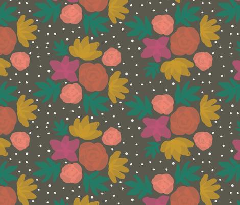 Flower Bouquets Gray fabric by mrshervi on Spoonflower - custom fabric