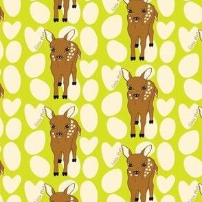 Little Hart Deer Offset Lime