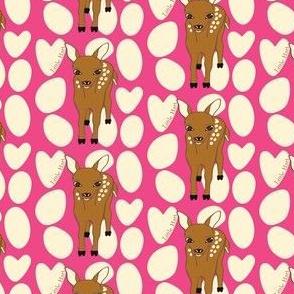 Little Hart Deer Offset Hot Pink