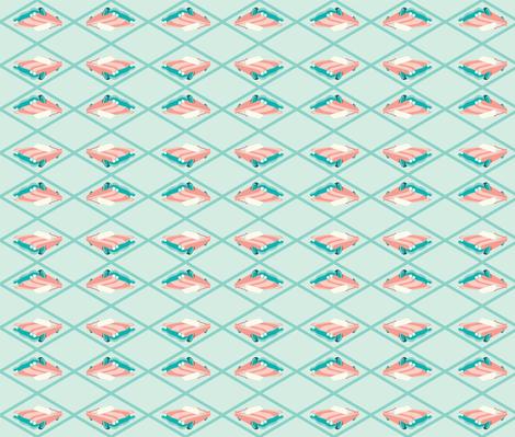 Retro Car fabric by moderntikilounge on Spoonflower - custom fabric