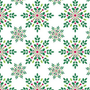 Holly Berry Snowflakes