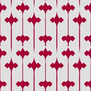 Fleuris (Red on Bone)