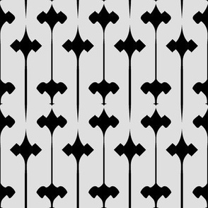 Fleuris (Black on Bone)