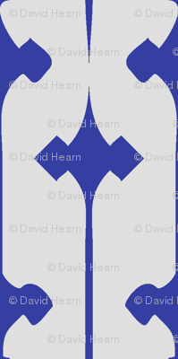 Fleuris (Blue on Bone)