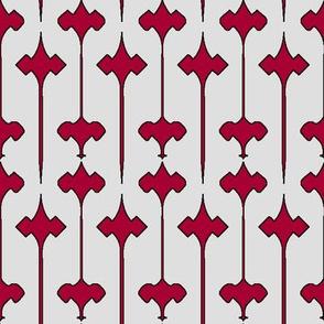 Fleuris (Red on Bone with Black)