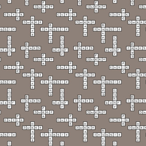 Crossword of love in grey
