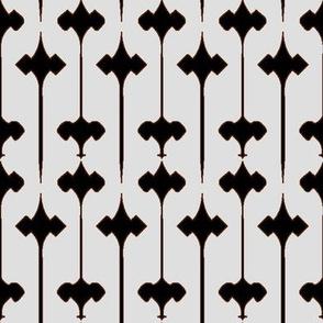 Fleuris (Black on Bone with Brown)