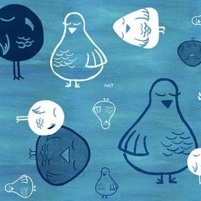 Smug Birds - Blue